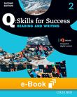 Q Skills for Success Level 2 Reading & Writing e-book - buy codes for institutions cover