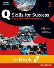 Q Skills for Success Level 5 Reading & Writing e-book - buy codes for institutions cover