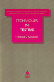 Techniques in Testing cover