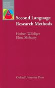 Second Language Research Methods e-book cover