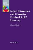 Input, Interaction and Corrective Feedback e-book for Kindle cover