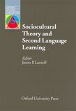 Sociocultural Theory and Second Language Learning e-Book for Kindle cover