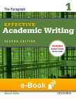 Effective Academic Writing 1 e-book - buy codes for institutions cover