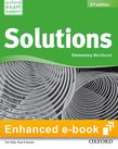 Solutions Elementary Workbook e-book - buy codes for institutions cover