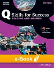 Q Skills for Success Intro Level Reading & Writing e-book - buy codes for institutions cover