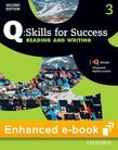 Q Skills for Success Level 3 Reading & Writing Student e-book with iQ Online - buy codes for institutions cover