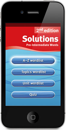 Solutions Words App on iPhone
